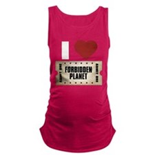 I Heart Forbidden Planet Ticket Maternity Tank Top