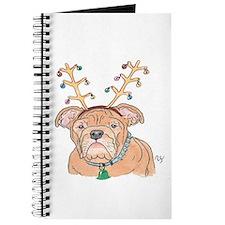 Holiday Bulldog Journal