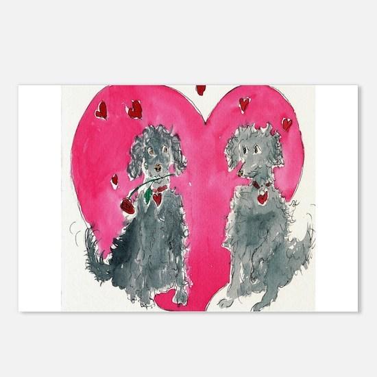 Valentine Doods Postcards (Package of 8)
