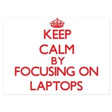 Keep Calm by focusing on Laptops Invitations