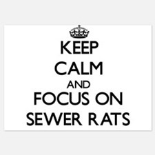 Keep Calm by focusing on Sewer Rats Invitations