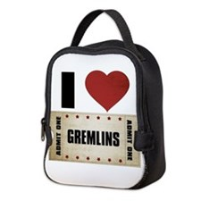 I Heart Gremlins Ticket Neoprene Lunch Bag