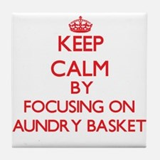 Keep Calm by focusing on Laundry Bask Tile Coaster