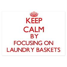 Keep Calm by focusing on Laundry Baske Invitations