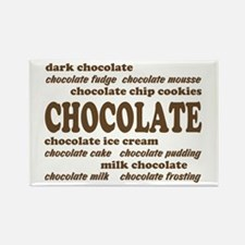 Chocolate Rectangle Magnet (10 pack)