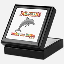 Dolphins Make Me Happy Keepsake Box