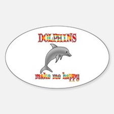 Dolphins Make Me Happy Decal