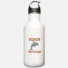 Dolphins Make Me Happy Water Bottle
