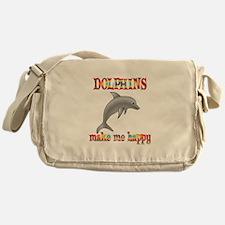 Dolphins Make Me Happy Messenger Bag