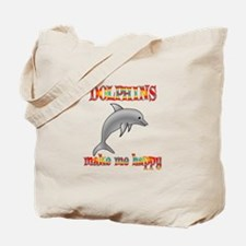 Dolphins Make Me Happy Tote Bag
