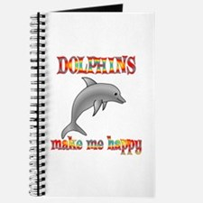 Dolphins Make Me Happy Journal