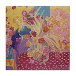 Country Rose Tile Coaster