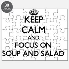 Keep Calm by focusing on Soup And Salad Puzzle