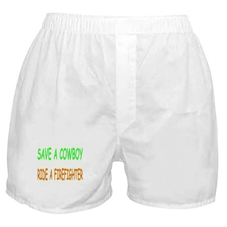 FIREFIGHTER GEAR SAVE A COWBOY RIDE A FF Boxers