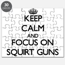Keep Calm by focusing on Squirt Guns Puzzle