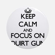 Keep Calm by focusing on Squirt G Ornament (Round)