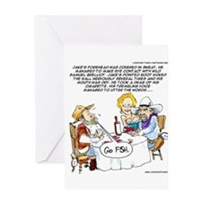 Cowboy Card Games Greeting Cards
