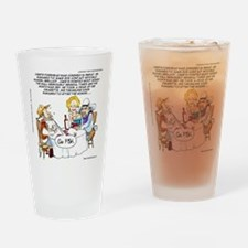 Cowboy Card Games Drinking Glass