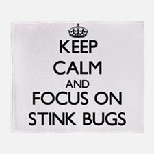 Keep Calm by focusing on Stink Bugs Throw Blanket