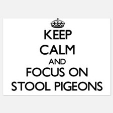 Keep Calm by focusing on Stool Pigeons Invitations