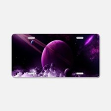 Purple Saturn Aluminum License Plate