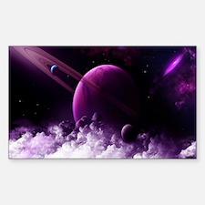 Purple Saturn Decal