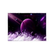 Purple Saturn 5'x7'Area Rug