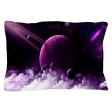 Purple Saturn Pillow Case