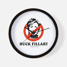 NO HILLARY: Huck Fillary Wall Clock