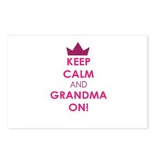 Keep Calm and Grandma On Postcards (Package of 8)