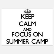 Keep Calm by focusing on Summer Camp Invitations