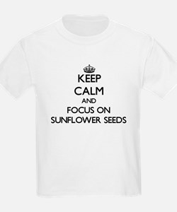 Keep Calm by focusing on Sunflower Seeds T-Shirt