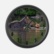 Unique Largest member of the deer family Large Wall Clock