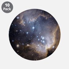 "Deep Space Nebula 3.5"" Button (10 pack)"