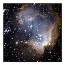 "Deep Space Nebula Square Car Magnet 3"" x 3"""
