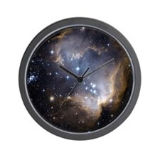 Deep Space Nebula Wall Clock