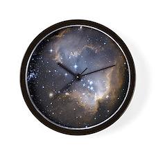 Deep Space Nebula Wall Clock