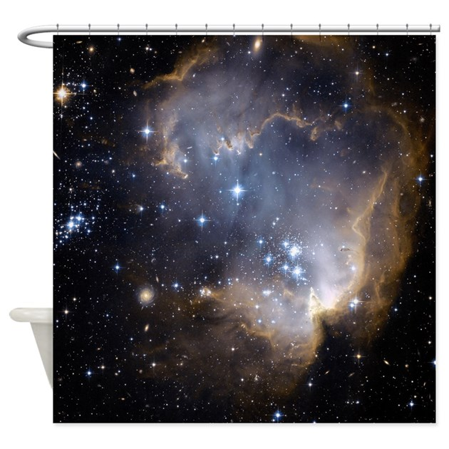 Deep Space Nebula Shower Curtain By Coolbedding