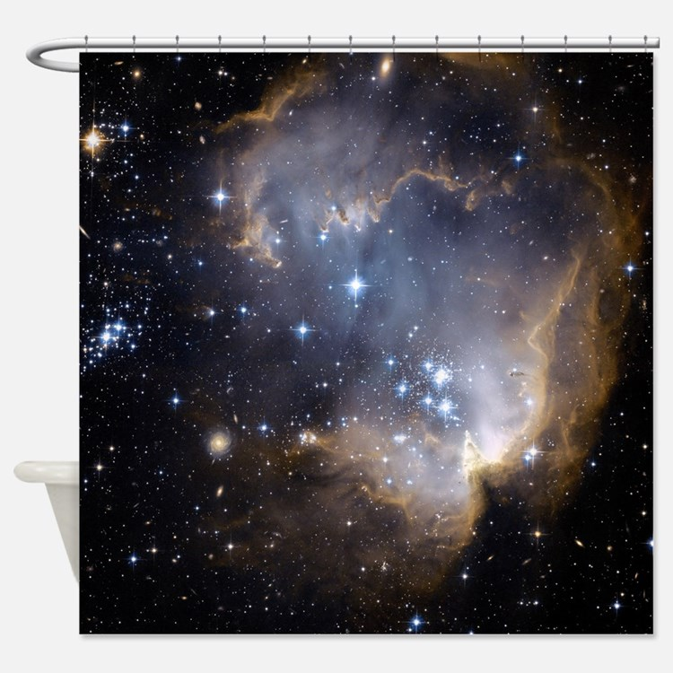 outer space shower curtains outer space fabric shower