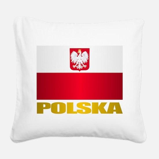 Polska Square Canvas Pillow