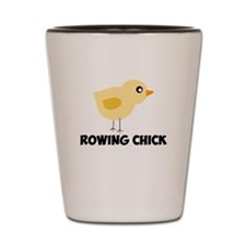Rowing Chick Shot Glass