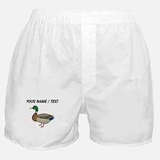 Custom Mallard Duck Boxer Shorts