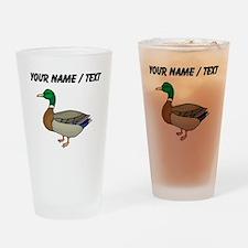 Custom Mallard Duck Drinking Glass