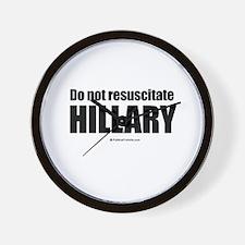 Do not resuscitate Hillary Wall Clock