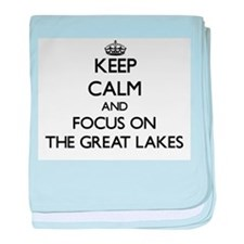 Keep Calm by focusing on The Great La baby blanket