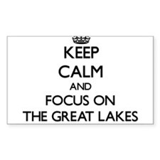Keep Calm by focusing on The Great Lakes Decal