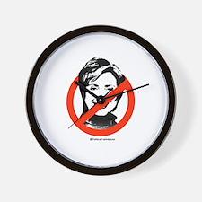 No to Hillary Wall Clock