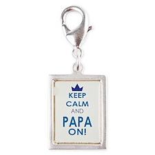 Keep Calm and Papa On Charms
