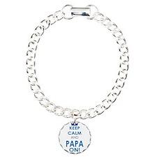 Keep Calm and Papa On Bracelet