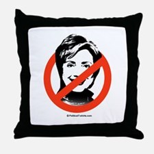 No to Hillary Throw Pillow